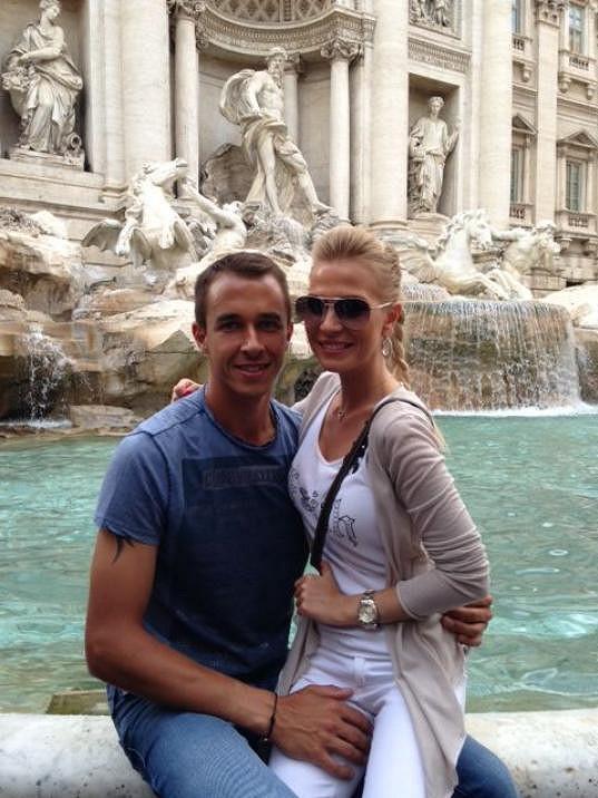 Míša Ochotská s Lukášem Rosolem si užili procházky v Římě.