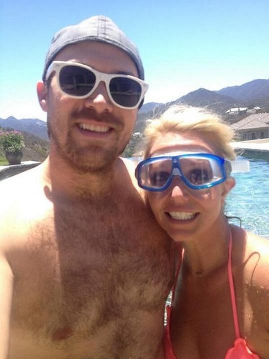 Britney s přítelem Davidem Lucadem