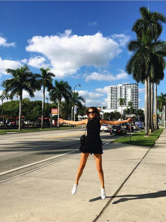 Na Floridě tráví Katka několik měsíců.