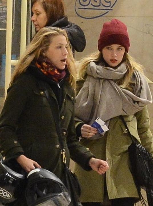 Amber (vpravo) se svou bývalou přítelkyní Marií de Villepin.