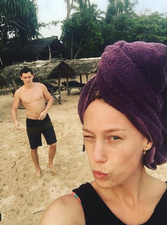 Herečka s partnerem Ondřejem