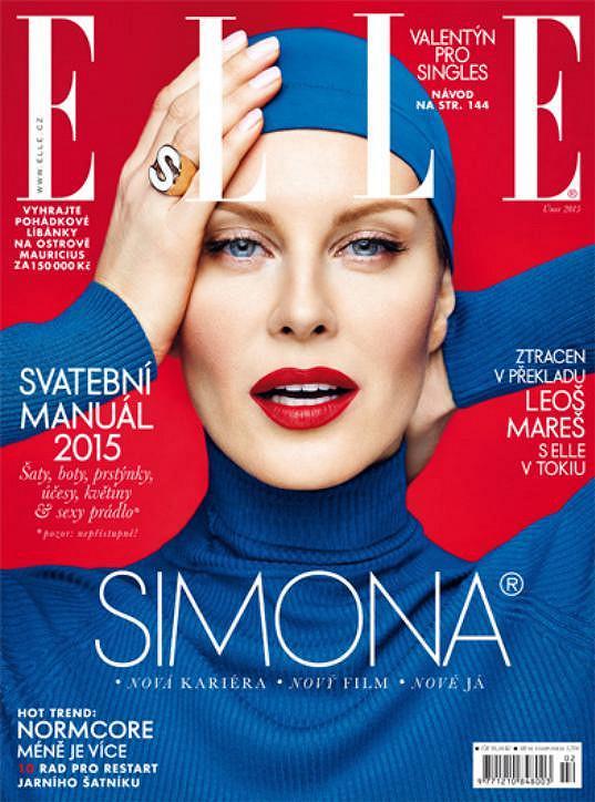 Simona na obálce únorové Elle
