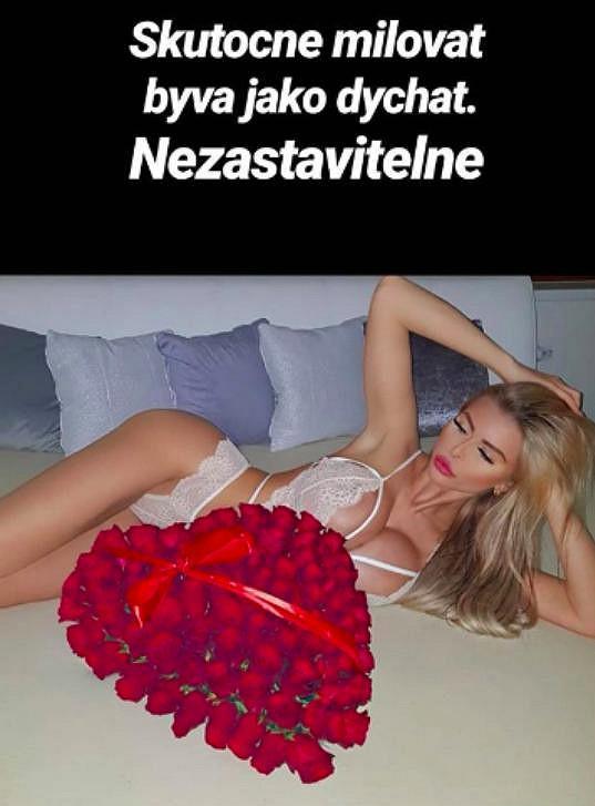 Valentýn v podání slovenské glamour modelky.
