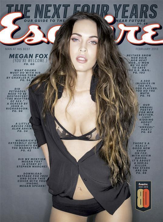 Megan Fox na obálce známého časopisu.