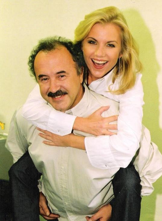 Mirek Jansa s Leonou Machálkovou, kterou dlouho zastupoval.