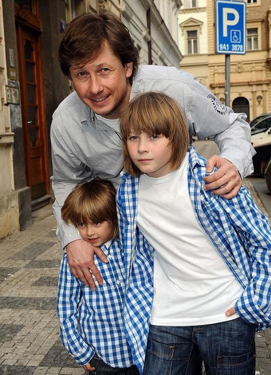 Kožíšek se svými syny