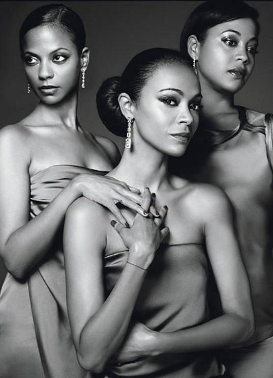Zoe, Mariel a Cisley Saldana.