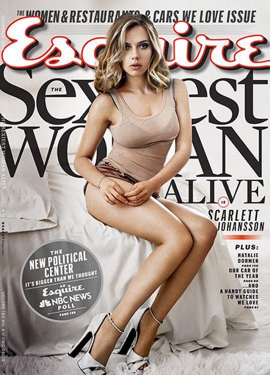Scarlett Johansson byla časopisem Esquire jako první dvakrát vyhlášena nejpřitažlivější ženou světa.