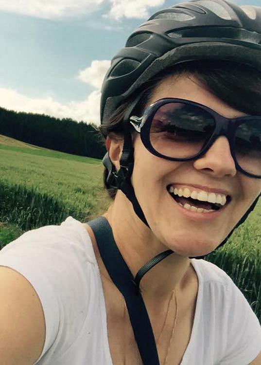 Marta Jandová si výlet na kole užila, byť ji značně vyřídil.