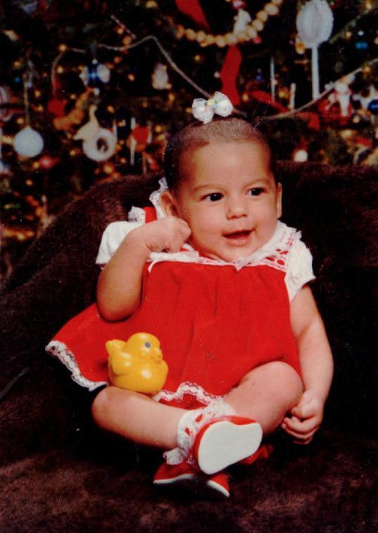 Monica Riley jako roztomilé miminko.