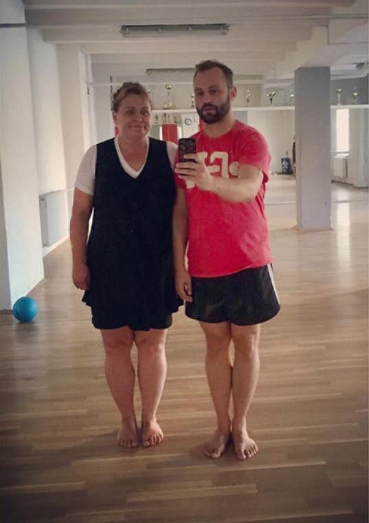 Pavla Tomicová na tréninku s Markem Dědíkem. O tomhle páru ve StarDance určitě hodně uslyšíme. Tomicové se loni podařilo zhubnout 25 kilo.