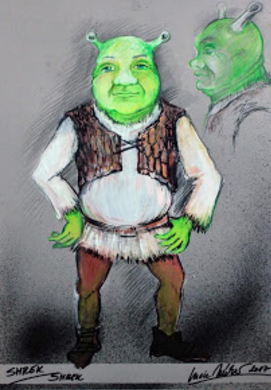 Nákres kostýmu Shreka