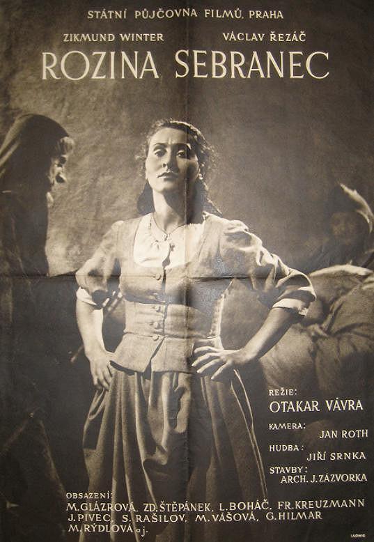 Plakát k filmu Rozina sebranec (1945) s Marií Glázrovou v hlavní roli. Tento film byl vrcholem její filmové kariéry.