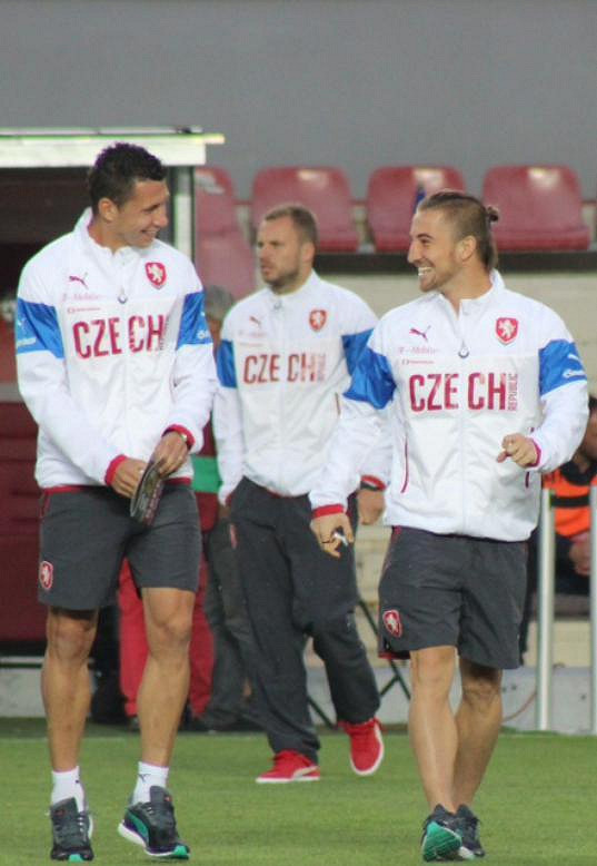 Lukáš Vácha se dostal až do české fotbalové reprezentace.