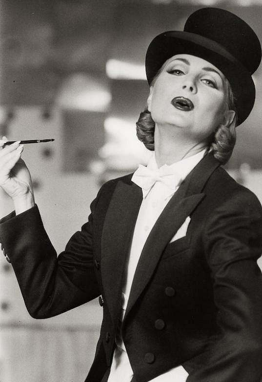 Nálepková coby Marlene Dietrich.