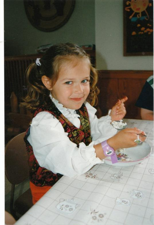 Lucie Kovandová jako malá holčička