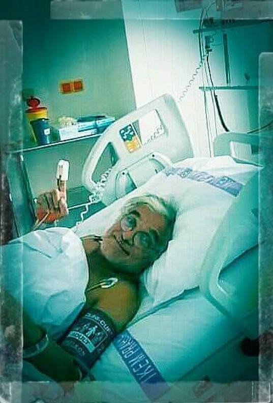Oldřich Kaiser jen krátce po operaci srdce