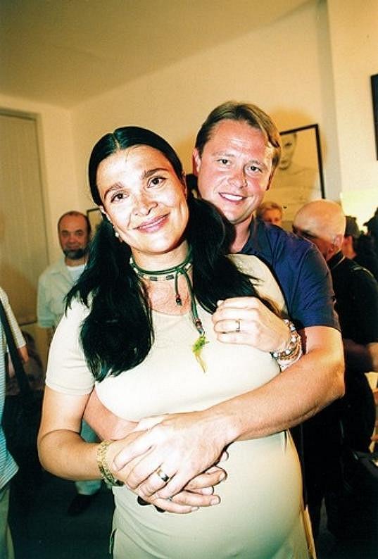 Mahulena Bočanová s exmanželem Viktorem Mrázem v době, kdy byla těhotná.