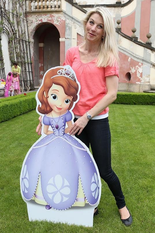 Sabina Laurinová s novou princeznou Sofií z kanálu Disney Channel.