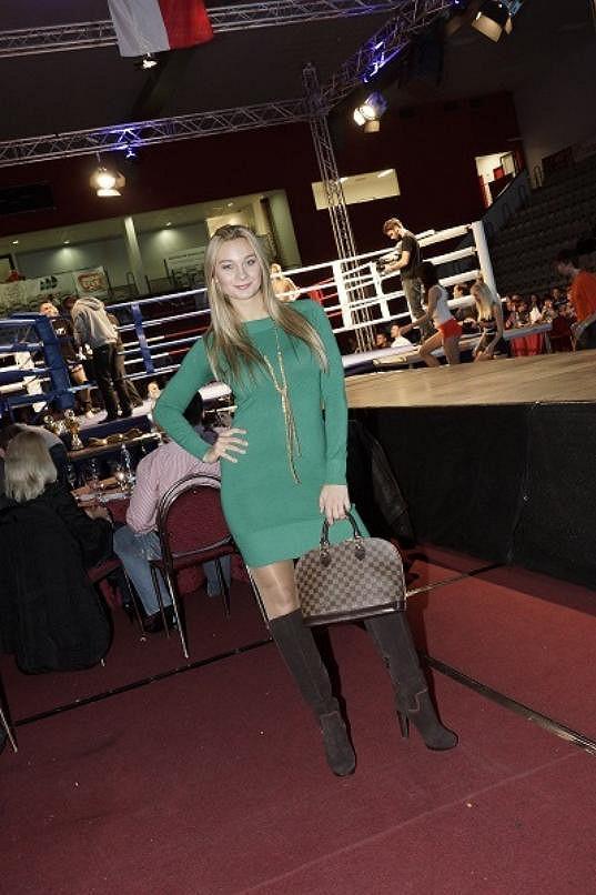 Barbora začíná také trénovat v ringu.