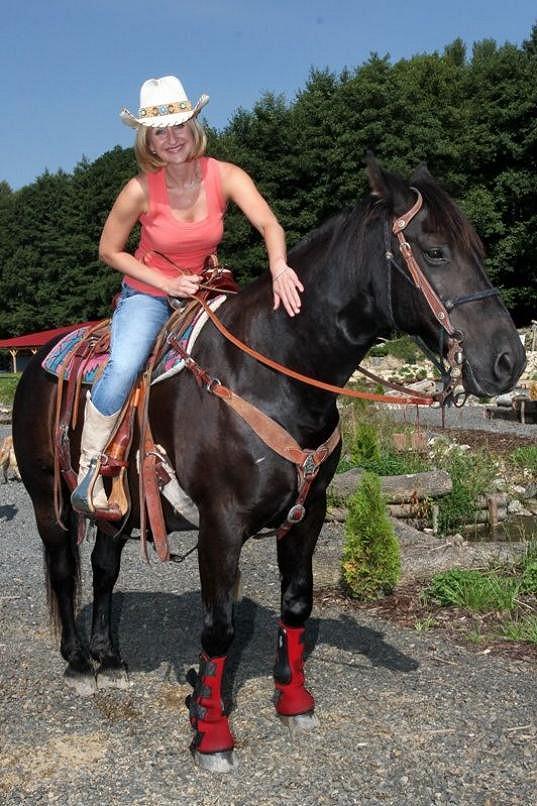 Terezie Kašparovská si to na koni užila.