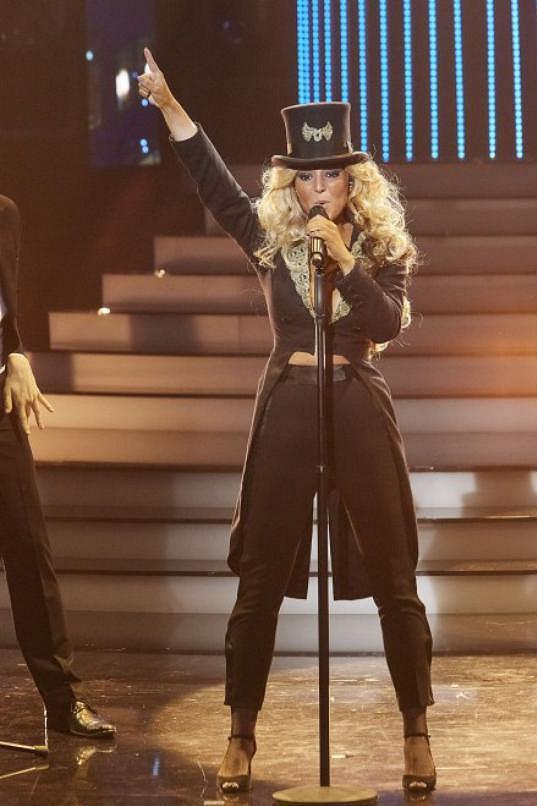 Markéta Kovičková jako Beyoncé ve třetí řadě Tváře. Skončila třetí.