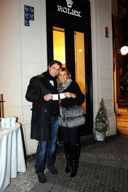 Tamara s přítelem Romanem Hajabáčem.