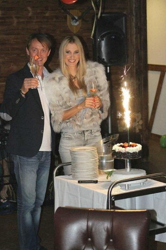 Katka slavila se svým manažerem Petrem, který měl pro změnu čtyřicetiny.