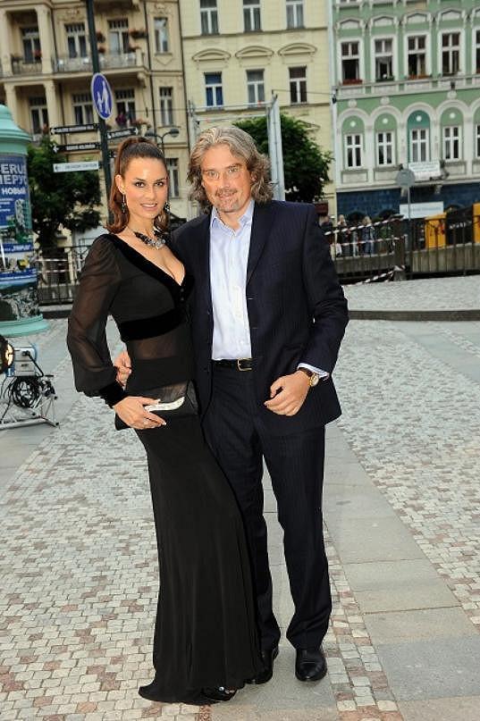 Terezie Dobrovolná s partnerem Davidem Beranem.