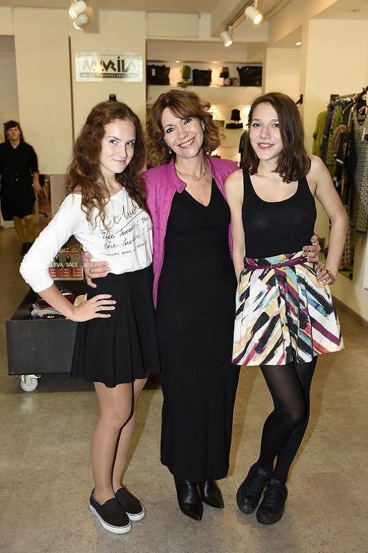 Míša s dcerami Terezou a Julií