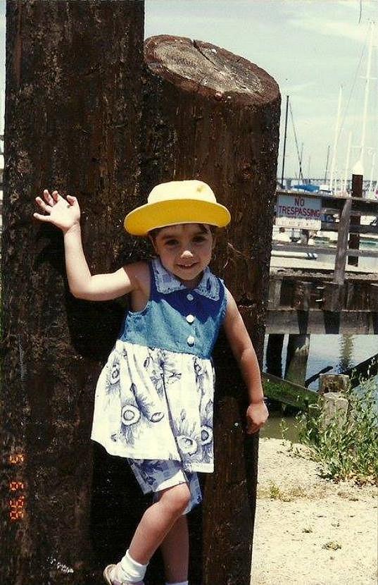 Marina jako roztomilá holčička
