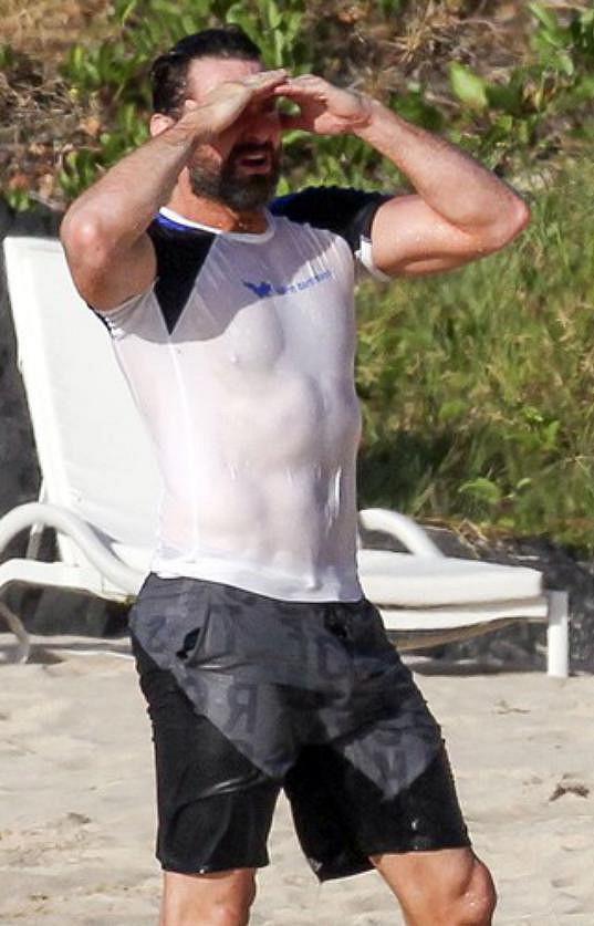 Hugh Jackman má dokonalou figuru.