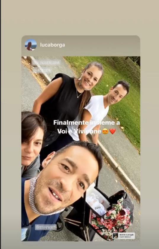 Součástí výpravy byl kamarád Luca Borga a jeho partnerka Stefania Borrier.