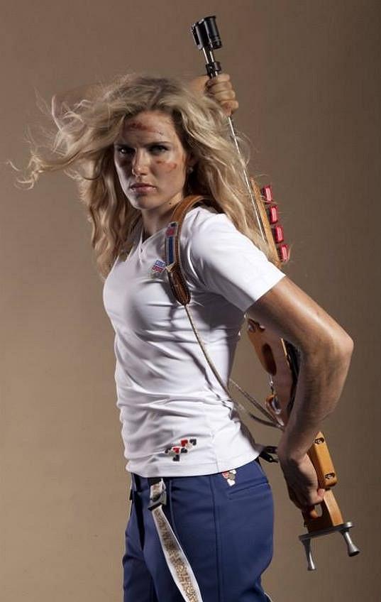 Soukalová je právem označována za jednu z nejkrásnějších sportovkyň.