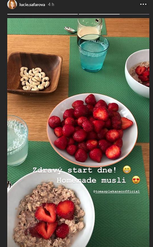 Snídaně od Lucie Šafářové
