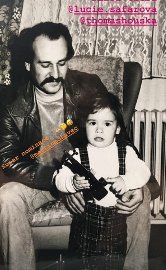Malý Tomáš Plekanec s tatínkem