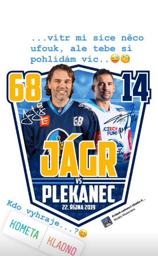 Tomáš Plekanec vrací úder Jágrovi.