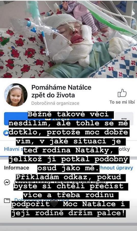 Týnuš Třešničková žádá na sociálních sítích lidi o pomoc.