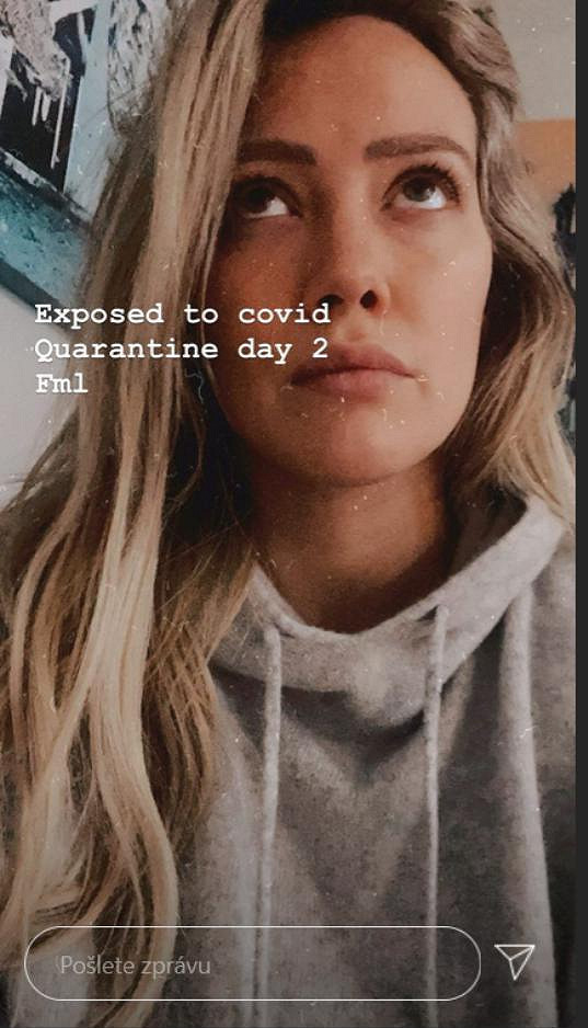 Hilary Duff přišla do kontaktu s nakaženým.