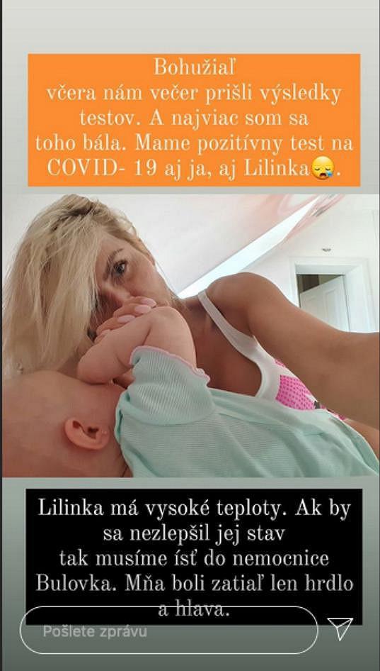 Lela Ceterová i její dcera Lili mají pozitivní výsledky na koronavirus.