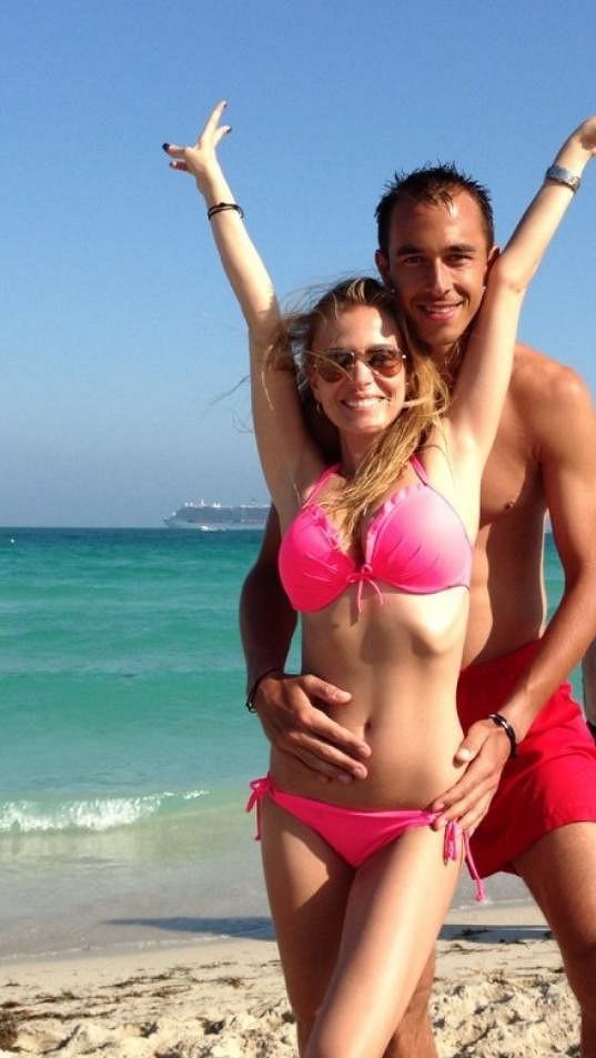 Momentálně se krásnou Ochotskou může kochat tenista Lukáš Rosol.