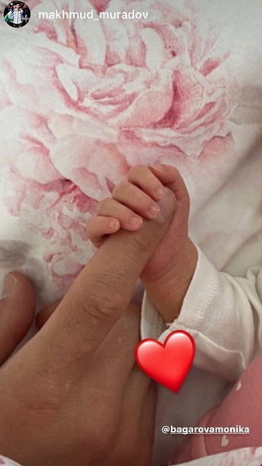 Machmud Muradov sdílel krásný snímek s dcerou.