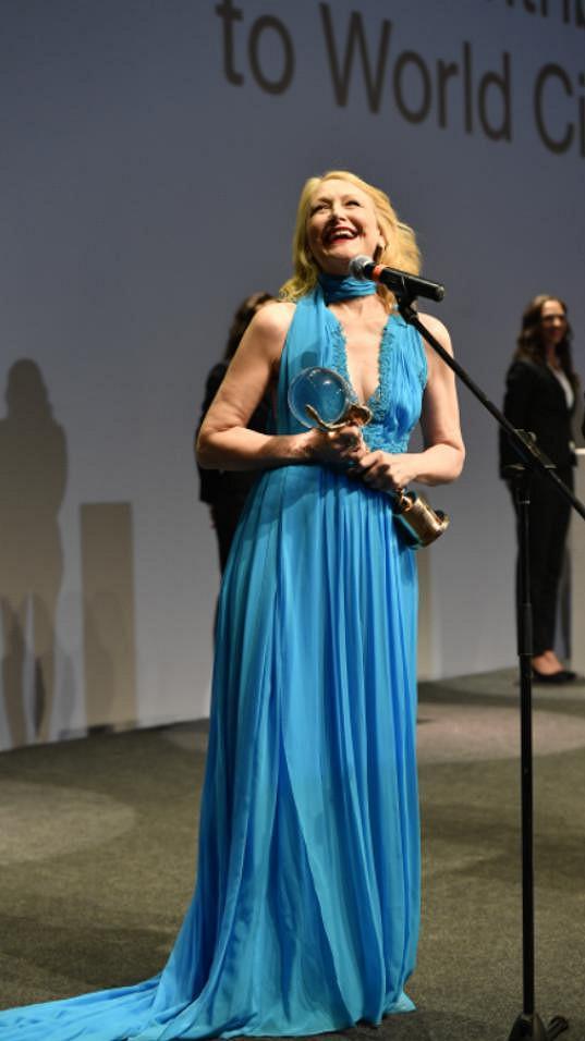 Patricia Clarkson byla z Křišťálového glóbu nadšená.