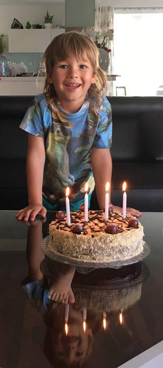 Dominik slavil narozeniny.