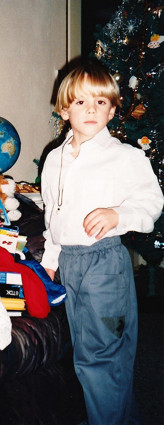 A takhle oslavil Vánoce v šesti letech.