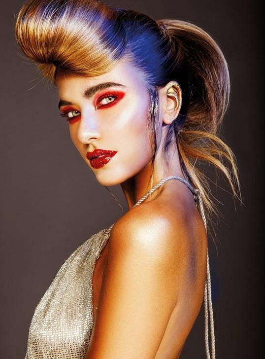 Andrea fotila kampaň největšího kosmetického veletrhu v Praze.