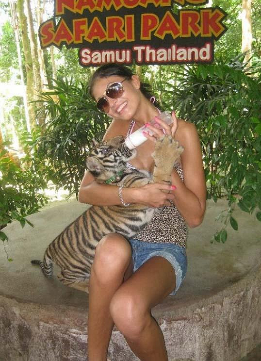 Julie Zugarová v Thajsku.