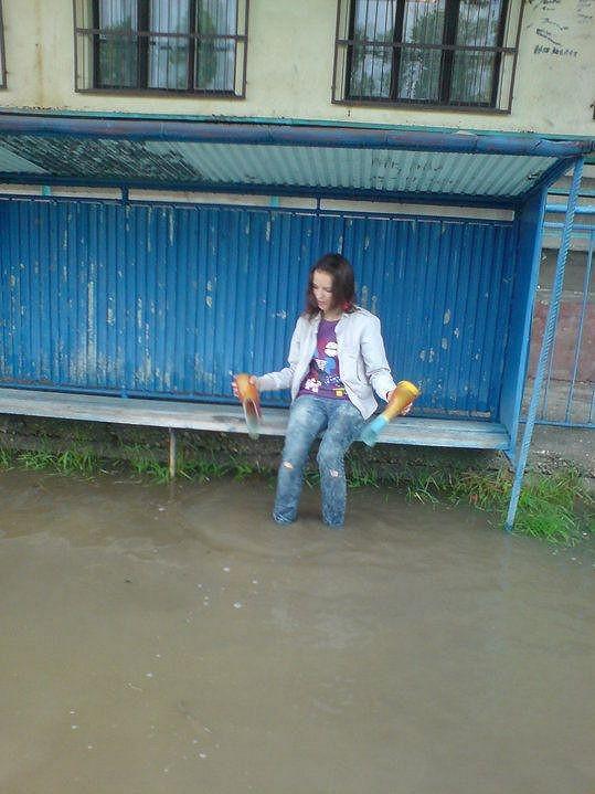 Jako z dokumentu o záplavách.