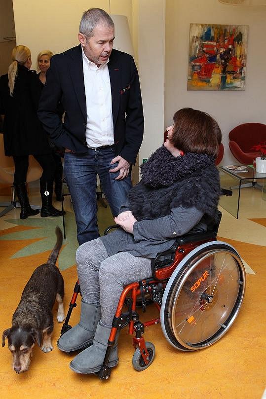 Marek Eben s manželkou Markétou.