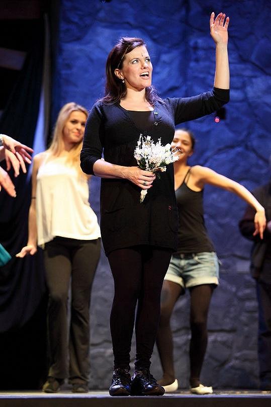 Marta na zkoušce muzikálu Hamlet.